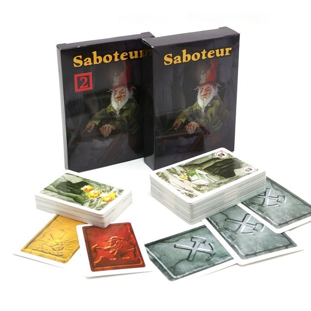 Saboteur 1+2 card game with english instruction jogos de tabuleiro dwarf miner jeu de base+extension board game
