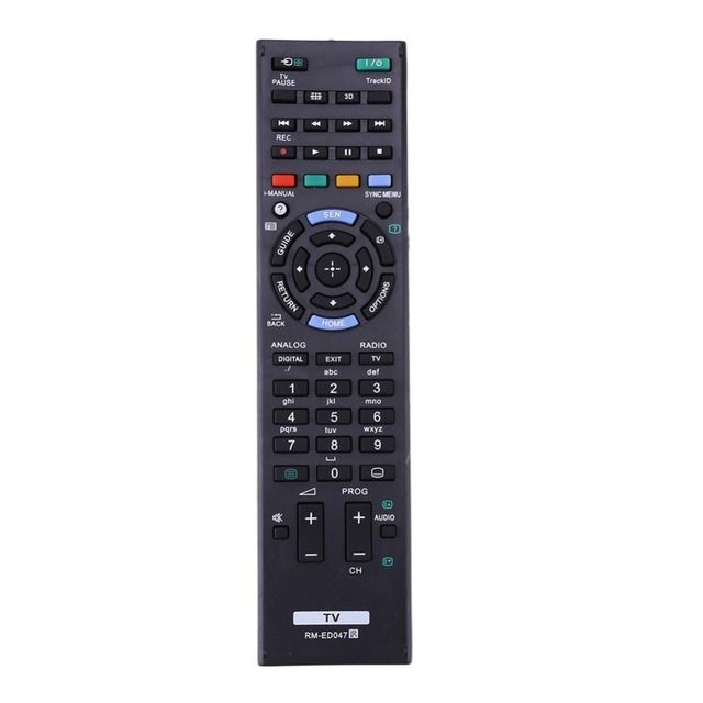 Alloyseed Universal TV Remote Control Replacement Television Remote Controller Unit Black High Quality for Sony TV RM-ED047 TV