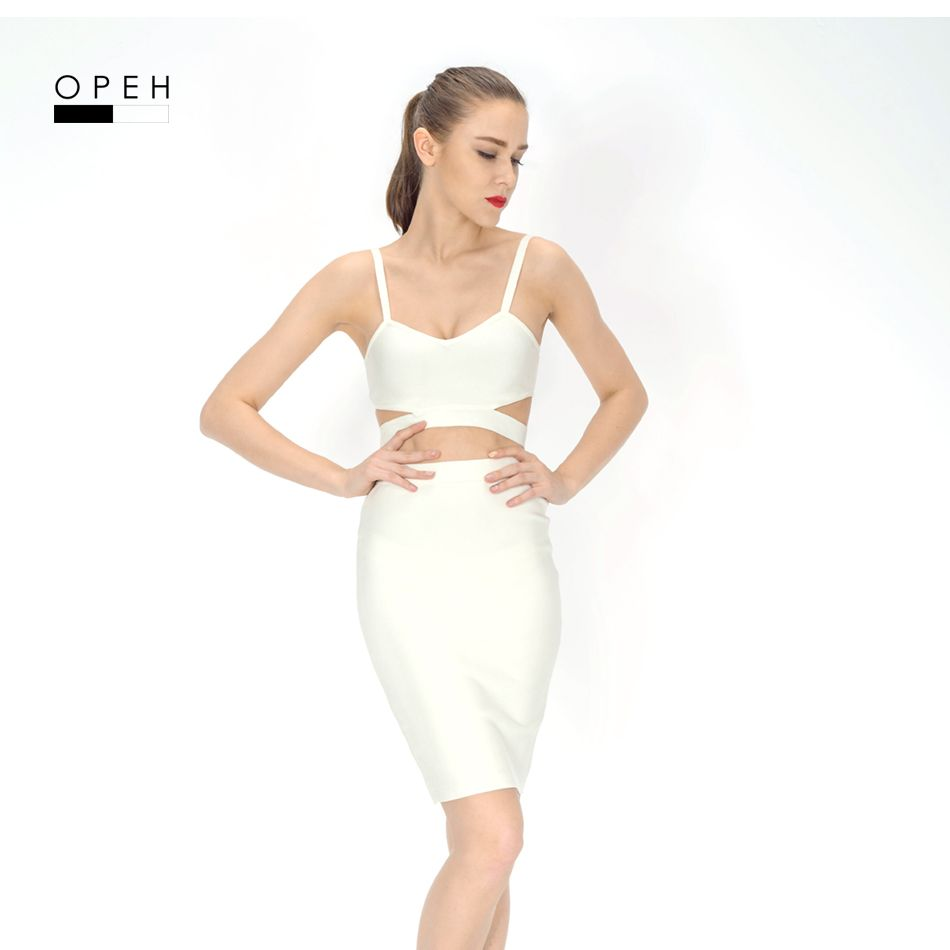 TP026 on sale cheap promotion factory price Sexy crop set 2 piece bandage dress