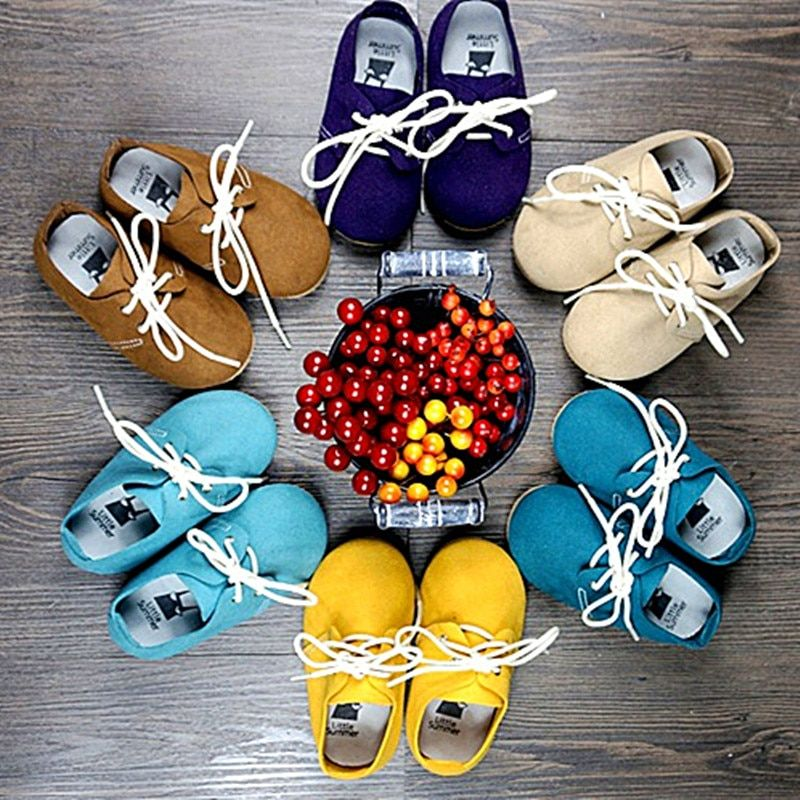New lace-up First Walkers Genuine Leather hand-made Baby Moccasins Chaussure Baby Shoes Bebe newborn shoes Free shipping