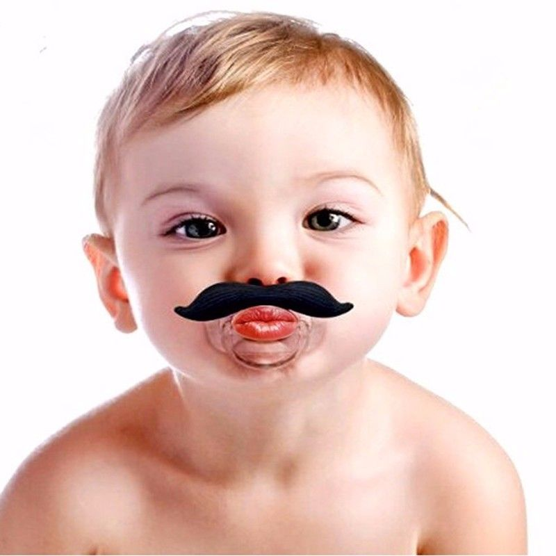 1 pic soother holder funny-soothers mustache funny pacifiers for baby silicone baby clips pacifier chain nipple-holder nipples