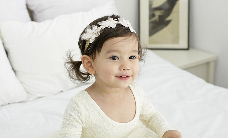 New arrival baby girl's fashion lace flower headwear  Children hairbands cute hair accessories hairpins