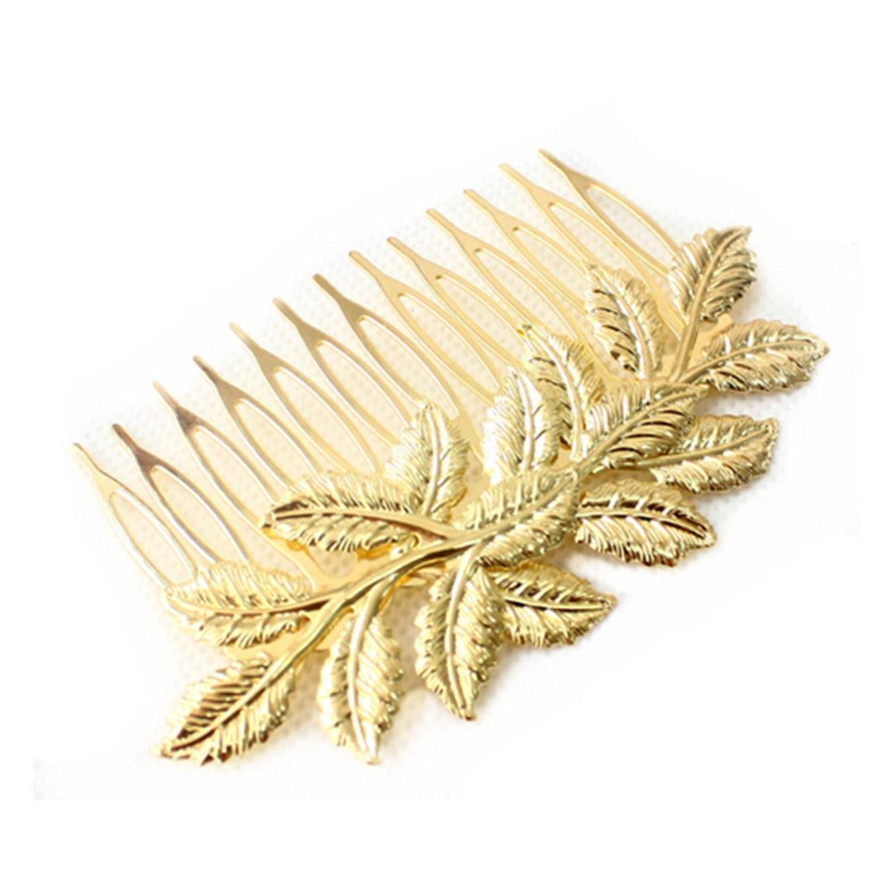 Vintage Gold Leaf Hair Comb Hair Jewelry Hair Accessires Head Jewelry  CF094 coupon
