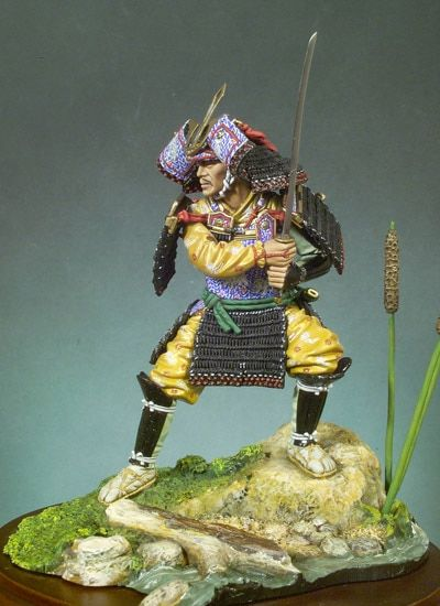 Unpainted Kit 1/18 90mm japan Samurai (1300)  90mm   figure Historical  Figure Resin  Kit