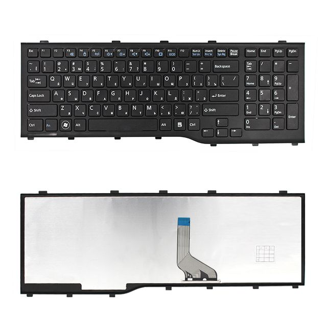 For Fujitsu AH532 A532 N532 NH532 RU Russian Black laptop keyboard with black frame