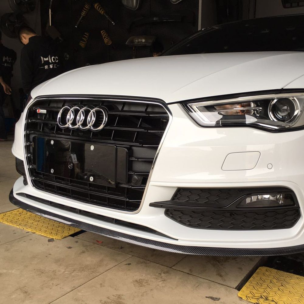 Universal Front Bumper Lip Splitter Fins Body Spoiler Canards for audi a4 b6
