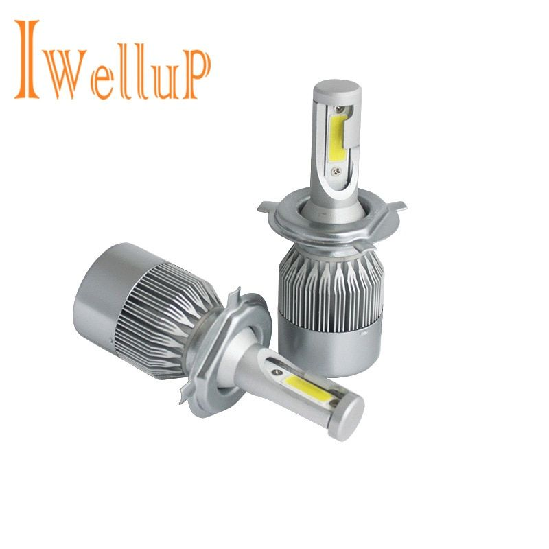 72W 8000lm H11 H4 H7 LED cob Car Automotives Headlight kit H7 HB3 HB4 H1 9005 9006 bulb led lamp with Fan Play & Plug
