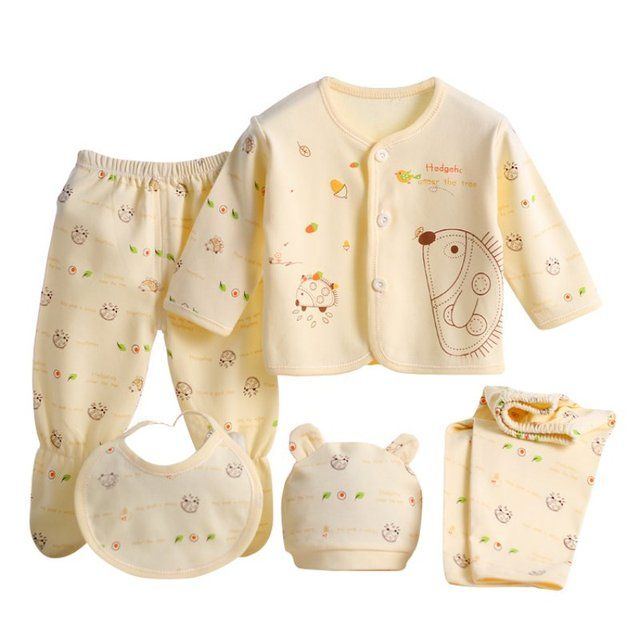 5pcs/set born Baby Clothing Set Brand Baby Boy Girl Clothes 100% Cotton Cartoon Underwear New