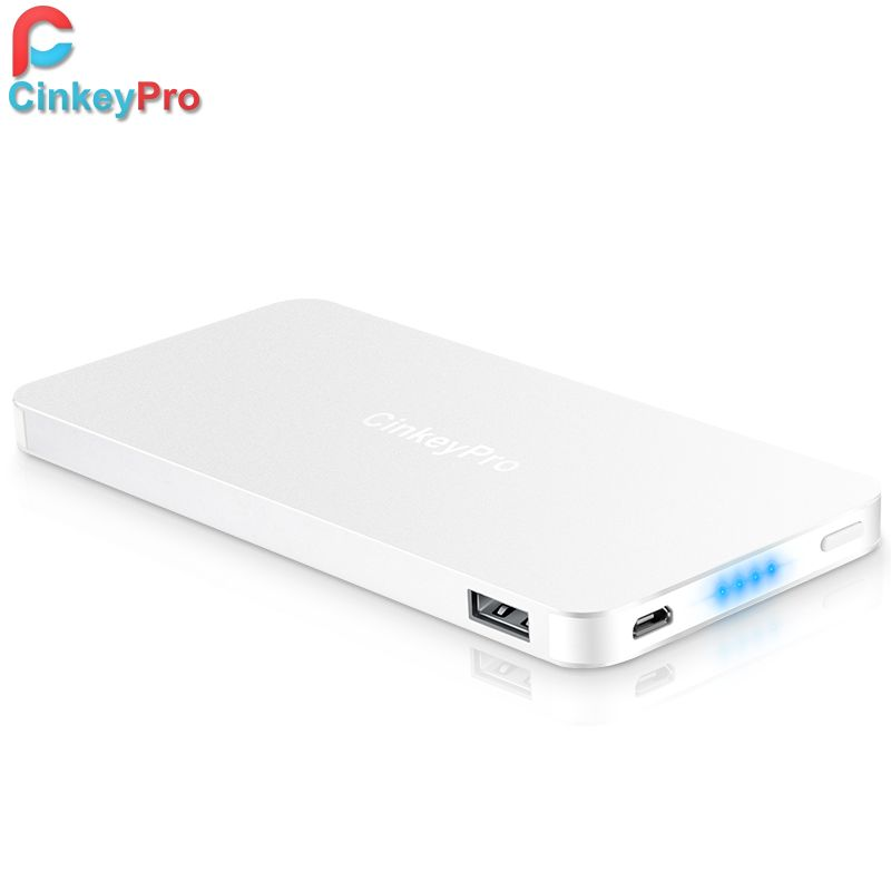 CinkeyPro Power Bank For XiaoMi iPhone 10400mAh Aluminum Powerbank 2 Ports  USB Portable Charger Backup External Battery Xiomi