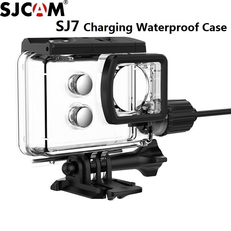SJCAM Accessories Motorcycle Waterproof Case for Original SJCAM SJ7 Star Charging shell Charger Case SJCAM SJ7 Camera Clownfish