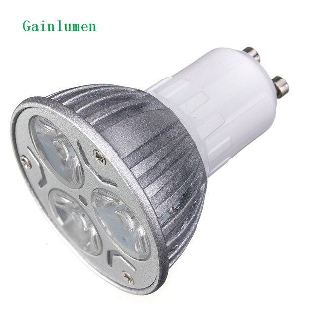 High power Epistar spot light GU10 E27 MR16 GU5.3  220V 230V 240V 12V 9W LED down Light Bulb lamp spotlight Warm White/White