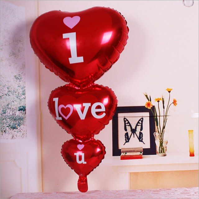 1pcs 96*50cm new string happy string day foil balloon balloon heart heart balloon aluminum helium balloon