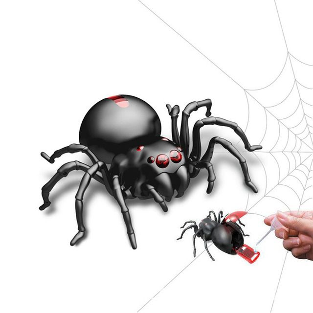 DIY Assembly Salt Water Powered Spider Gags Antistress Toys For Children Adults Tricky Action Spider Toy With English Version