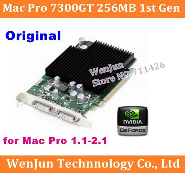 Free Shipping High Quality for Mac Pro nVidia GeForce 7300GT 256MB MacPro Video Card 1st gen video card  have 8800gt