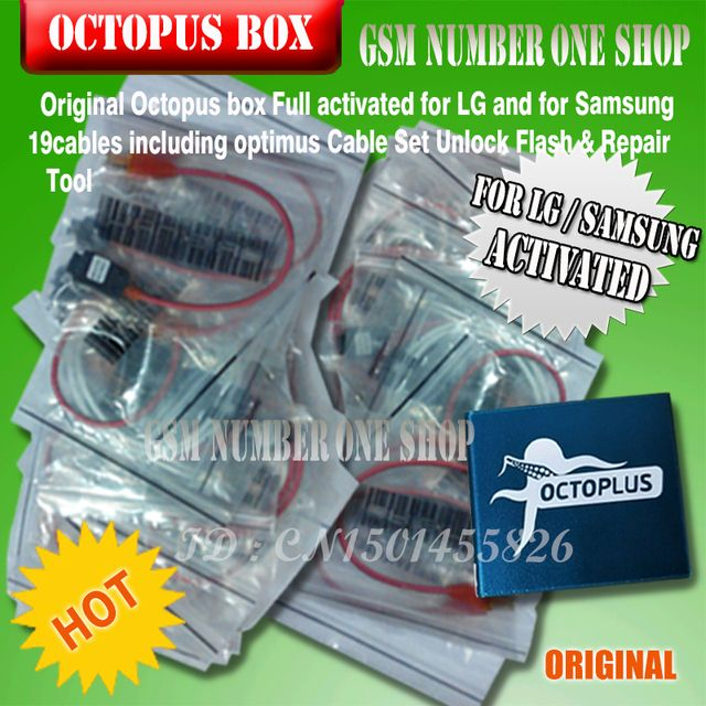 Octopus box Full activated for LG and for Samsung 19cables including optimus Cable Set Unlock Flash & Repair Tool
