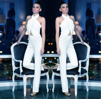 women's jumpsuit bandage hot backless bodycon  one pieces sexy night club evening elegant wear outfit