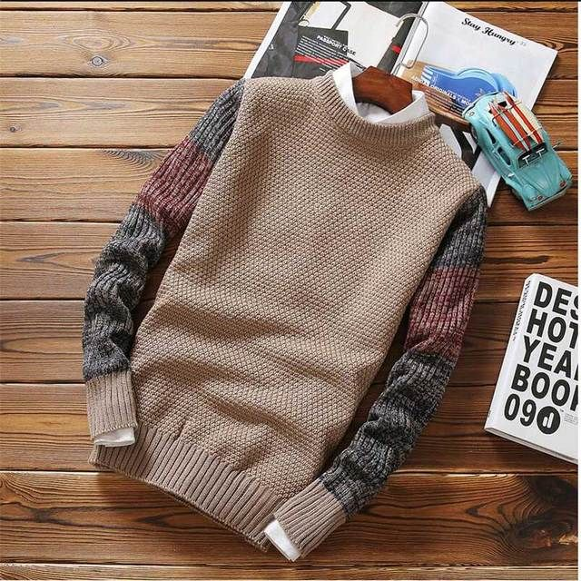 2016 New Fashion Men's Sweater Autumn Pullovers Casual Mature Sweater For Man Patterns Brand Pullovers