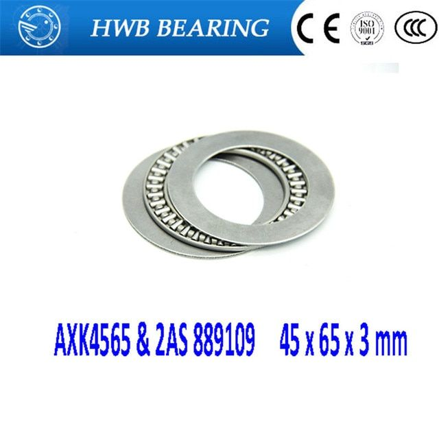 5Pcs AXK4565 & 2AS 889109 Thrust Needle Roller Bearing & Washers 45 x 65 x 3 mm Free shipping High Quality 45*65*3mm