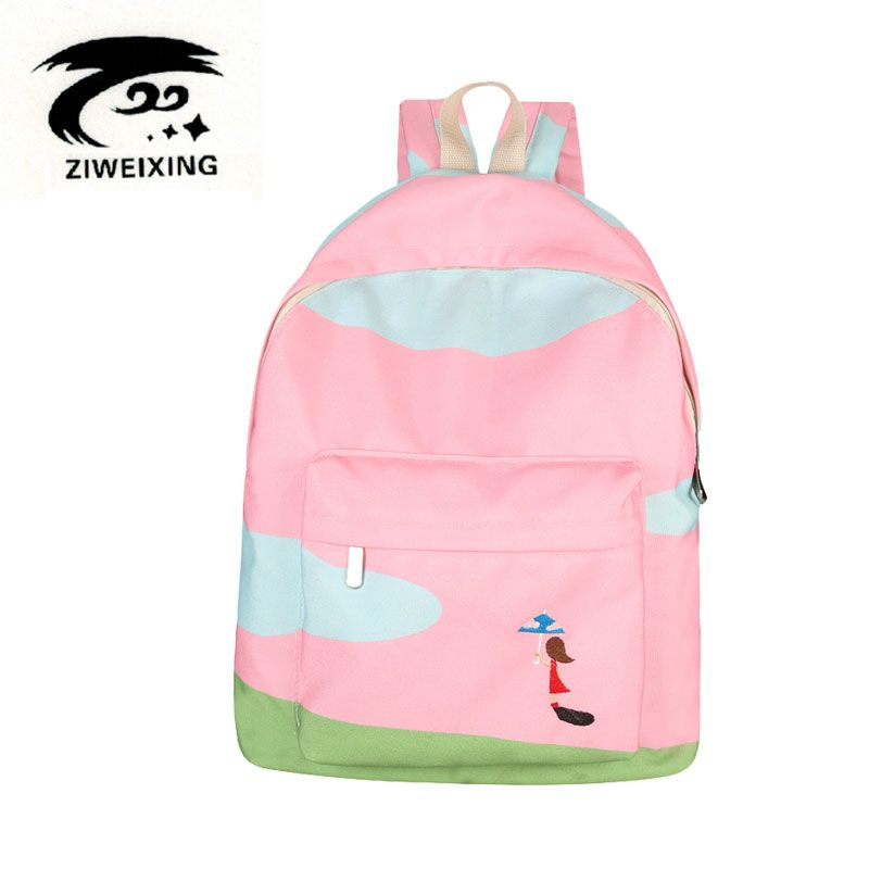 ZIWEIXING 2017 Design Backpack For School Bag Teenagers Girls High Quality Bookbags Fashion Canvas Female Shoulder Bag Mochila