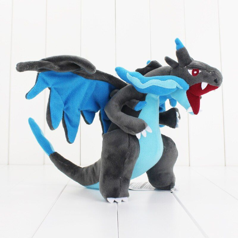 "1Pcs 10"" 25cm Mega Charizard Plush Toys Charizard X Plush Doll Stuffed Soft Good Quality Great Gift"