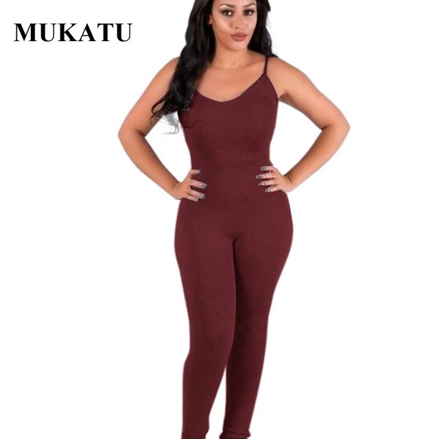 MUKATU 2017 Summer Rompers Women Sexy Bodysuit Casual Fashion V-Neck Sleeveless One Piece Jumpsuit Rompers Women Slim Leggings