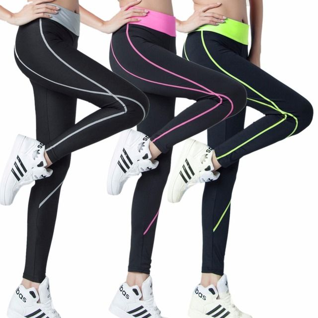 TOP SALE New Women Pants Elastic Wicking Force Exercise Tights Female Tights Fitness Trousers Slim