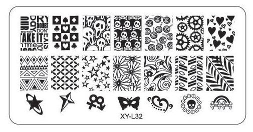 1PC 12*6cm Lace Flower Animal Nail Stamping Plates Image Plastic Nail Art Manicure Templates Stencils Salon Beauty Polish Tools