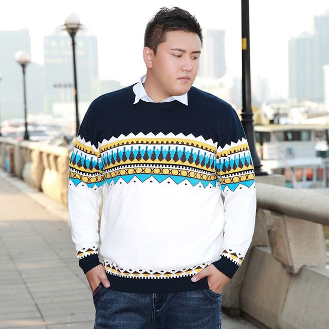 2016 new arrival fashion casual sweater autumn winter male o-neck long-sleeve cotton pullover Plus size 3XL 4XL 5XL 6XL 7XL 8XL