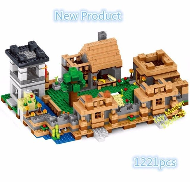 2017 1221pcs Village Minecraft Series Included Model Building Blocks Kit Bricks Educational Toys Gifts 0512