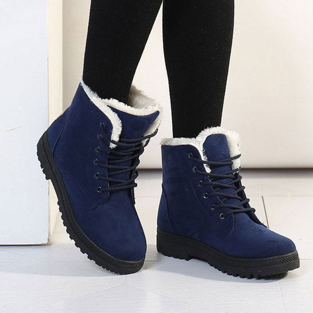 Women Boots 2017 Winter snow Boots Women Warm Fur Ankle Boots For Women Warm Winter Shoes Botas Mujer bota feminina