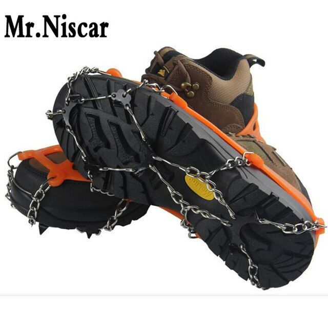 Mr.Niscar High Quality Sport Winter Anti Slip Ice Gripper Cleats Shoe Boot Grips Crampon Chain Spike Sharp Snow EUR Size 35-45