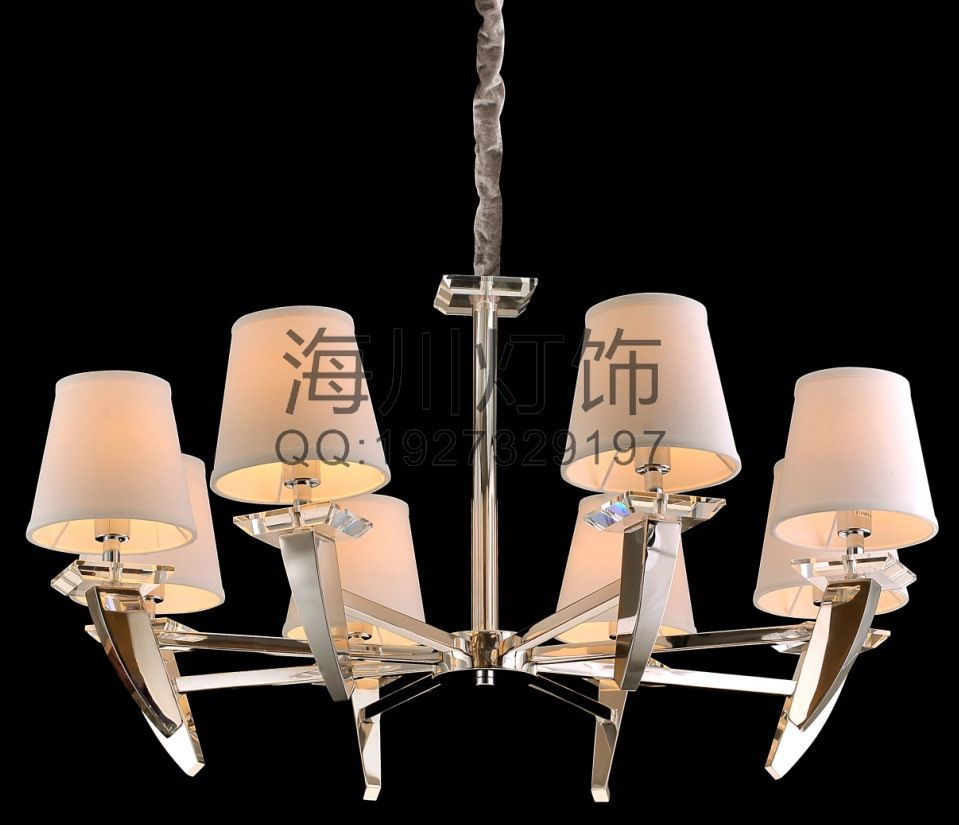 Zhongshan factory specializing in customized hotel rooms are modern eight iron chandelier