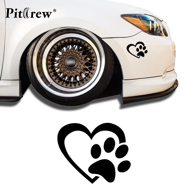 1 PC 8.75*10.5cm 2018 New Style Car Styling Stickers Love and Dog Animals Car Stickers Vinyl Decal  Waterproof Car Accessories