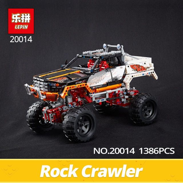 LEPIN Technic Series 20014 1386Pcs 4X4 Crawler Vehicles Model Building Blocks Bricks Educational Toys Gift children Car 9398