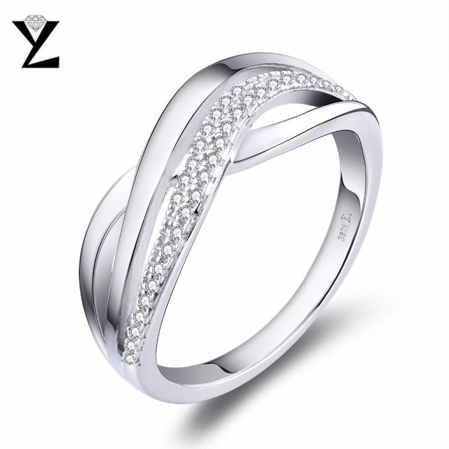 YL 925 Sterling Silver Engagement Rings Women Wedding Female Luxury Sterling Silver Jewelry Wholesale