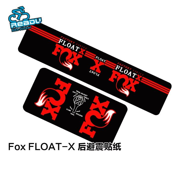 Bicycle Accessories Sticker FOX /ROCK Mountain Bicycle Rear Shock Absorbers Stickers MTB Bike Shock Absorber Decals