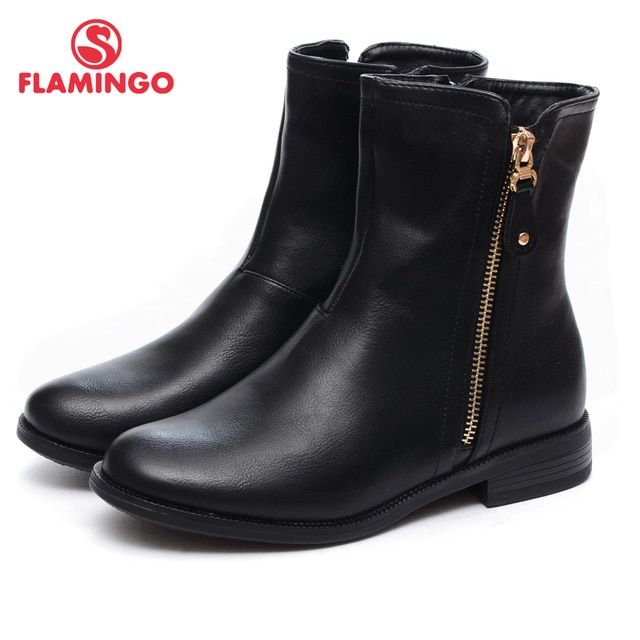 FLAMINGO 2016 new collection autumn/winter fashion kids boots high quality anti-slip kids shoes for girls W6J031