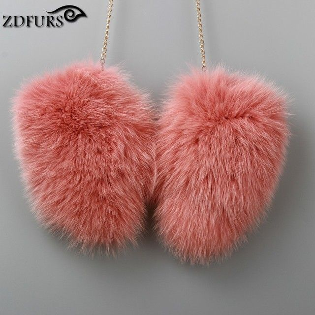2016 Women Real Fox Fur Gloves Lovely Ladies Genuine Fox Fur Gloves Great Solid With Strap Russian Guantes Women's Winter Gloves
