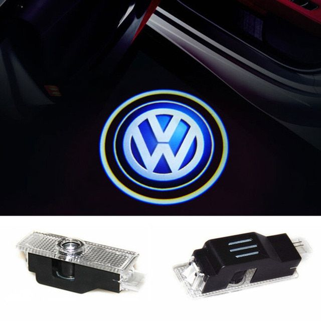 2x LED Car Logo Door Lights Ghost Shadow light For VW Phaeton Passat B5 B5.5
