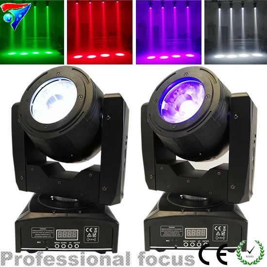 2pcs/lot Mini 60W Led Moving Head Light LED Lamp RGBW 4IN1 Color Beam Effect 4 Degree Angle Big Lens Good Beam Scanner