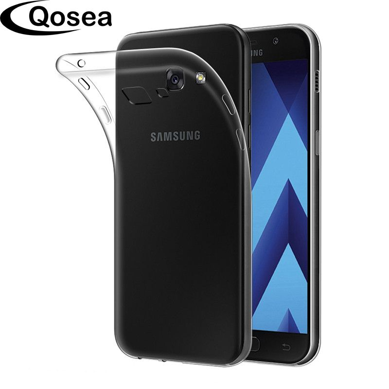 Qosea NEW 2017 For Cover Samsung Galaxy A5 2017 Silicone TPU Back Case For Galaxy A3 A5 A7 Transparent Soft Gel Protective Case