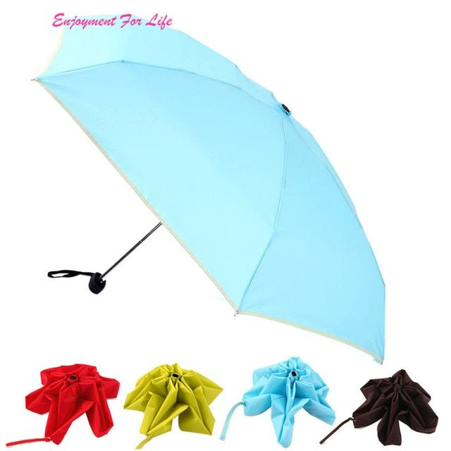 Folding Classic Umbrella Rain Durable 2016 Wholesale High Quality Hot Sale One Piece Nice Hot  Umbrella Free Shipping Dec 22