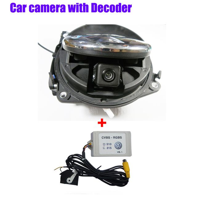 RGB RNS315 RNS 510 RCD 510 box  with car Trunk handle Flipping rear view Reverse Camera for VW Passat CC Tiguan Golf 6 MK6 B7