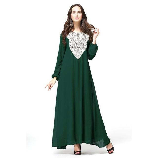 Women Lady Maxi Long Chiffon Dress Kaftan Jilbab Islamic Muslim Abaya Women Cocktail