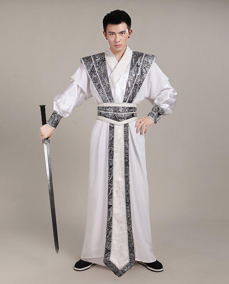 Chinese Traditional Costume for Men  Ancient Swordsman Cosplay Costume Male National Hanfu Costume Tang Suit Robel Clothing 89