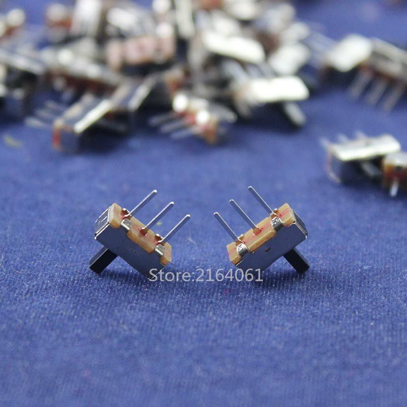 100pcs Interruptor on-off mini 1 Way 2 Band Slide Switch PCB Mount SS12d00G4