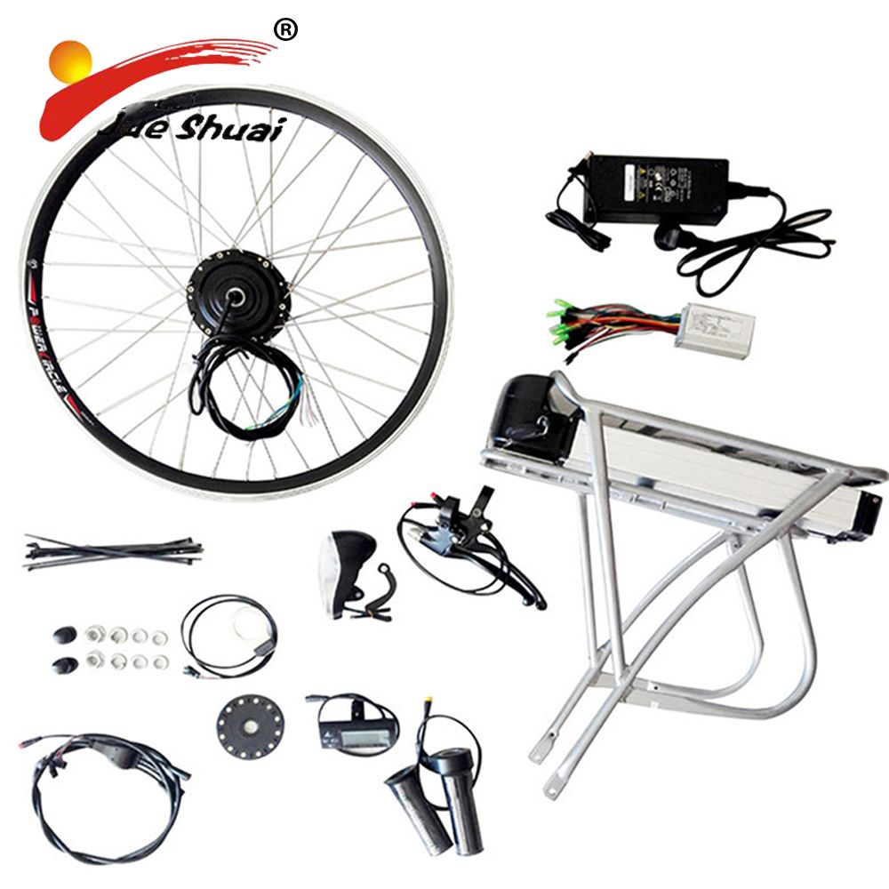 "Easy DIY Electric Bike Kit With Battery Electric Bicycle Kit 20"" 26"" 700C(28"") Electric Bicycle Motorized Bicycle Kit With Rack"