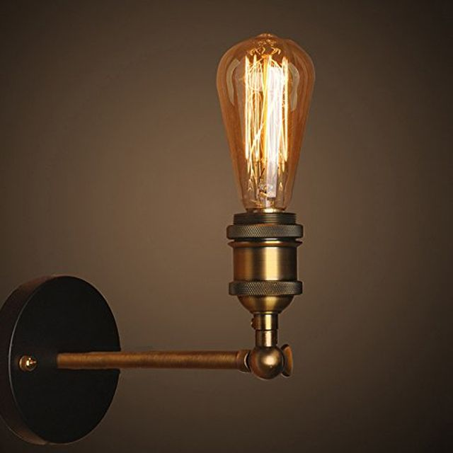 Wall Lamp Vintage Industrial Brass Wall Sconce Edison Retro Wall Light Rustic Wall Lamp E27 Industrial Bathroom Stair Antique