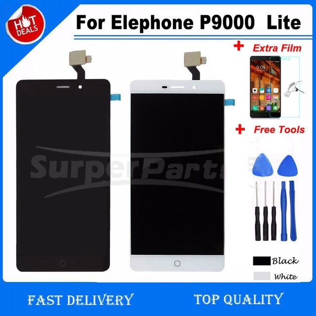 For Elephone P9000  Lite LCD Display +Touch Screen digitizer For Elephone P9000  Lite lcd screen+Tools with Extra Film