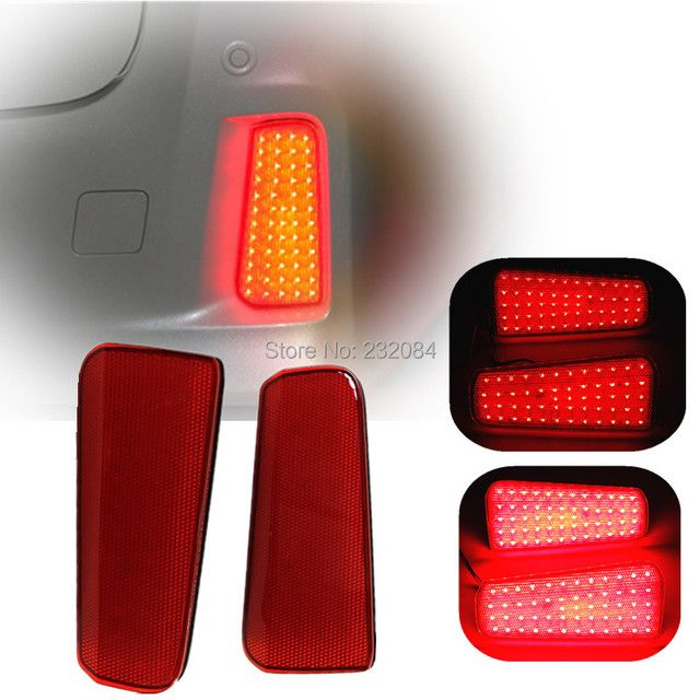 OKEEN 2PCS For Toyota Vellfire Alphard 30 series Car Rear LED Reflector Brake Lights Red Lens LED Bumper Tail Stop Fog Light